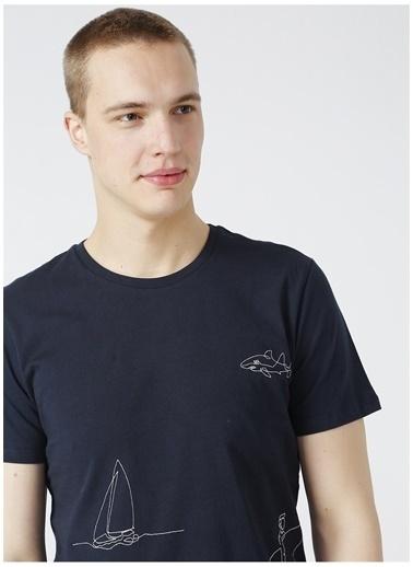 Limon Company Limon Erkek Lacivert Bisiklet Yaka T-Shirt Lacivert